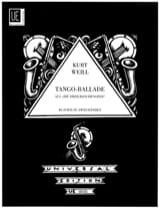Tango-Ballade Kurt Weill Partition Piano - laflutedepan.com