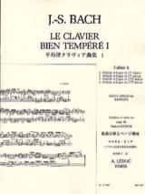 Le Clavier Bien Tempéré - Livre 1 Cahier A BACH / BITSCH laflutedepan