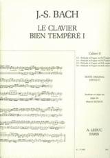 Le Clavier Bien Tempéré - Livre 1 Cahier D BACH / BITSCH laflutedepan