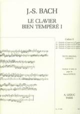 Le Clavier Bien Tempéré - Livre 1 Cahier E BACH / BITSCH laflutedepan
