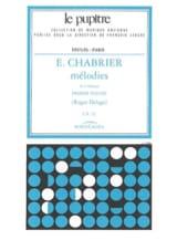 Chabrier Emmanuel - Delage Roger - Mélodies. Volume 1 - Partition - di-arezzo.fr