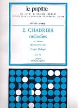 Mélodies. Volume 2 Chabrier Emmanuel - Delage Roger laflutedepan.com