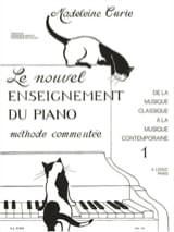 Madeleine Curie - Nouvel Enseignement Du Piano Volume 1 - Partition - di-arezzo.fr
