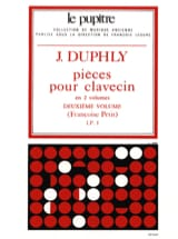 Duphly Jacques / Petit Françoise - Pieces For Harpsichord. Volume 2 - Sheet Music - di-arezzo.com