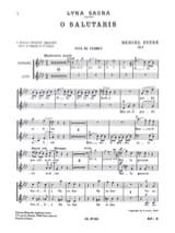O Salutaris. Opus 9-1 Marcel Dupré Partition Chœur - laflutedepan.com