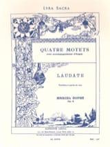 Laudate. Opus 9-4 Marcel Dupré Partition Chœur - laflutedepan.com