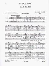 Laudate Opus 9-4. Voix Hommes Marcel Dupré Partition laflutedepan.com