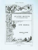 Ave Maria Opus 9-2 - Marcel Dupré - Partition - laflutedepan.com