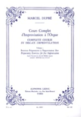 Cours Complet D'improvisation A L'orgue. Volume 1 laflutedepan.com