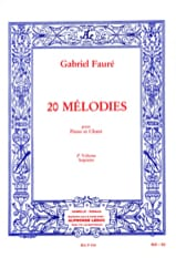 Gabriel Fauré - 20 Melodies Volume 2. Soprano - Sheet Music - di-arezzo.co.uk