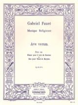 Ave Verum Opus 65-1 - Gabriel Fauré - Partition - laflutedepan.com