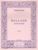Ballade Opus 19. 2 Pianos Gabriel Fauré Partition laflutedepan.com