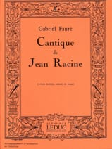 Gabriel Fauré - Song of Jean Racine - Sheet Music - di-arezzo.co.uk