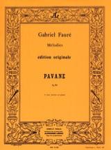 Pavane Gabriel Fauré Partition Chœur - laflutedepan.com