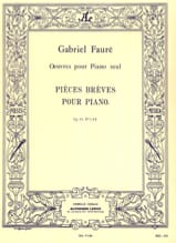 Gabriel Fauré - Short Parts Opus 84 - Sheet Music - di-arezzo.com