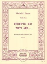 Gabriel Fauré - Since here Bas Any Soul Opus 10 - Sheet Music - di-arezzo.co.uk