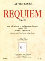 Gabriel Fauré - Requiem Version 1893 - Partition - di-arezzo.fr