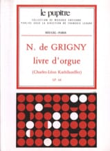 Livre D'Orgue Grigny Nicolas de / Koehlhoeff laflutedepan.com