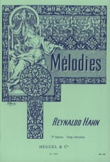 Mélodies Volume 1 Reynaldo Hahn Partition Mélodies - laflutedepan.com