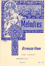 Mélodies Volume 2 Reynaldo Hahn Partition Mélodies - laflutedepan.com