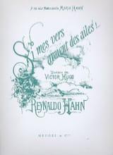 Si Mes Vers Avaient Des Ailes Reynaldo Hahn Partition laflutedepan.com