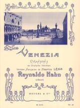 Venezia Reynaldo Hahn Partition Mélodies - laflutedepan.com