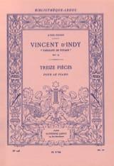 Vincent d' Indy - Tableaux de Voyage Opus 33 - Partition - di-arezzo.fr