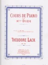 Théodore Lack - Préludes de Melle Didi Opus 85 - Partition - di-arezzo.fr