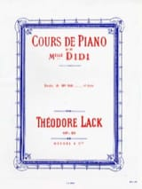 Etudes de Melle Didi Opus 85 Livre 1 Théodore Lack laflutedepan.com