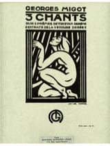 Georges Migot - 3 Chants sur 3 Poèmes - Partition - di-arezzo.fr