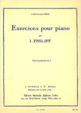 Exercices pour Piano. Isodore Philipp Partition laflutedepan.com