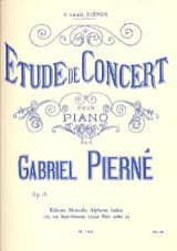 Gabriel Pierné - Concert Study Opus 13 - Sheet Music - di-arezzo.co.uk