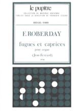 Fugues Et Caprices Pour Orgue - laflutedepan.com