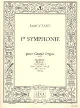 Symphonie N°1 Opus 14 Louis Vierne Partition Orgue - laflutedepan.com