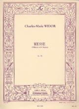 Messe Opus 36 2 Choeurs 2 Orgues WIDOR Partition Chœur - laflutedepan