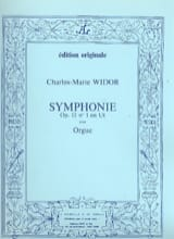 Symphonie n° 1 Opus 13 WIDOR Partition Orgue - laflutedepan