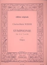 Symphonie n° 2 Opus 13 WIDOR Partition Orgue - laflutedepan