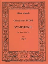 Charles-Marie Widor - Symphonie n° 5 Opus 42 - Partition - di-arezzo.fr