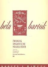 Bela Bartok - 20 Ungarische Volkslieder Volume 4 - Partition - di-arezzo.fr