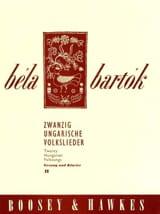 Bela Bartok - 20 Ungarische Volkslieder Volume 2 - Partition - di-arezzo.fr