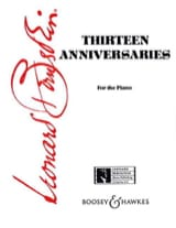 Leonard Bernstein - 13 Anniversaries - Sheet Music - di-arezzo.co.uk