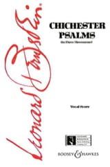 Leonard Bernstein - Chichester Psalms - Partition - di-arezzo.fr