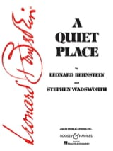 Leonard Bernstein - A Quiet Place - Sheet Music - di-arezzo.com