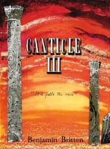 Benjamin Britten - Canticle 3 Opus 55 - Partition - di-arezzo.fr