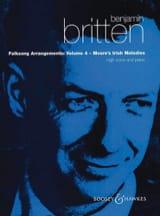 Benjamin Britten - Folksongs Volume 4 Voix Haute Moore's Irish Melodies - Partition - di-arezzo.fr