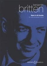Benjamin Britten - Hymn To St. Cecilia Opus 27 - Partition - di-arezzo.fr