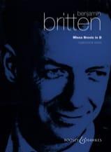 Benjamin Britten - Missa Brevis In D Opus 63 - Noten - di-arezzo.de