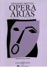 Benjamin Britten - Opera Arias Ténor Volume 2 - Partition - di-arezzo.fr
