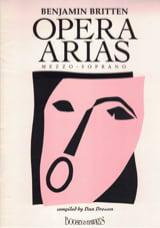 Opera Arias Mezzo Soprano Benjamin Britten Partition laflutedepan.com