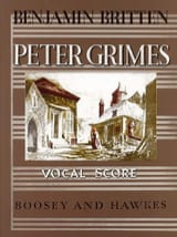 Peter Grimes Opus 33 - Benjamin Britten - Partition - laflutedepan.com